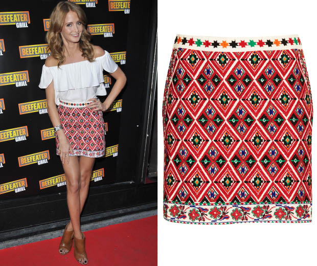 Shop Millie's Topshop skirt before it sells out