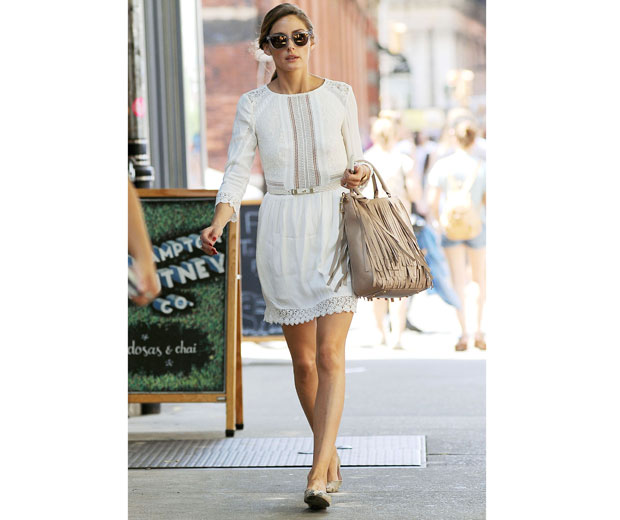 Olivia Palermo Wears Chic LWD out and about in NYC
