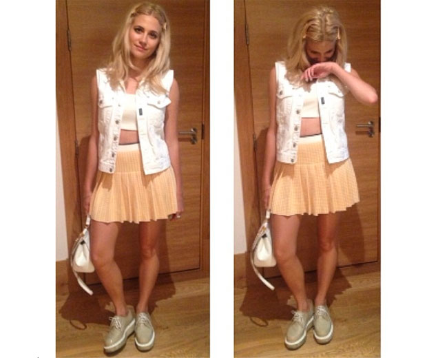 Pixie Lott wears top-to-toe designer look at Wimbledon 2014