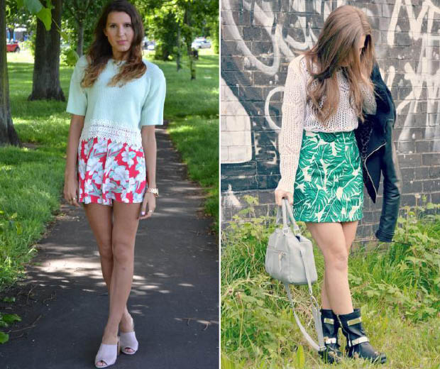 Bloggers show us how to work knits in the summer
