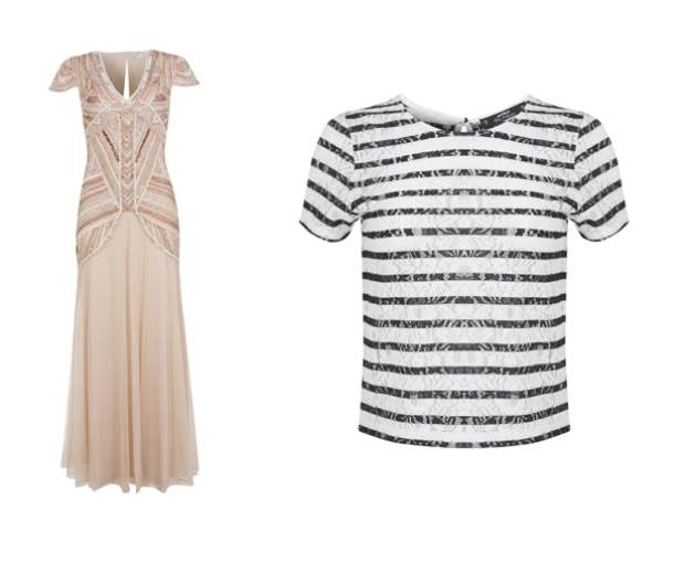 Grab an embellished maxi for just £50, or this stripy lace tee for only £10