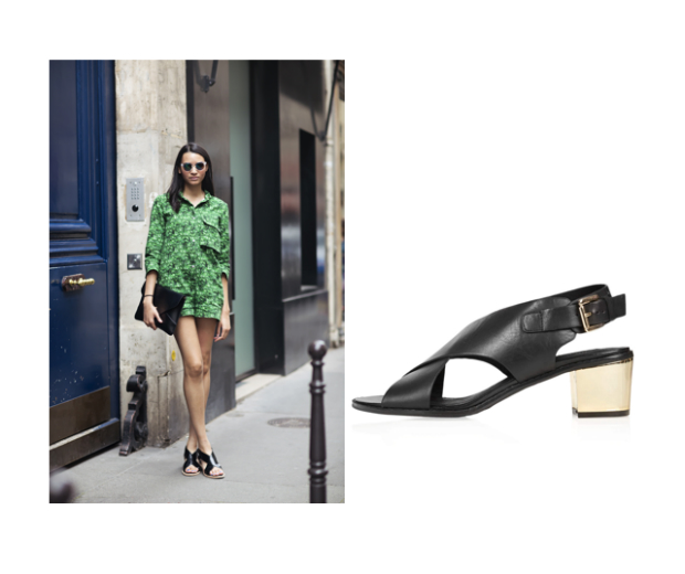 Steal this street styler's shoe style and invest in these block cross beauties from Topshop