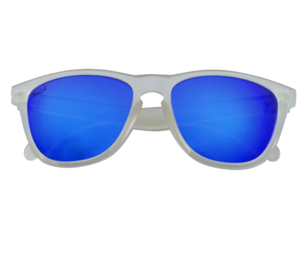 We love a blue lens for summer – go polar with contrasting frames