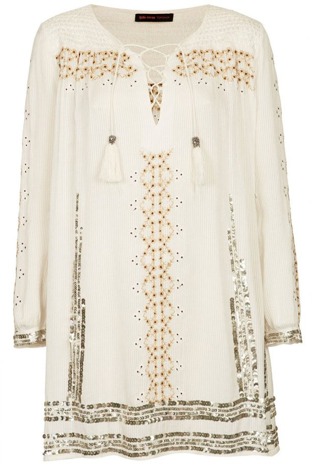 Topshop Embroidered Smock Dress By Kate Moss, £85