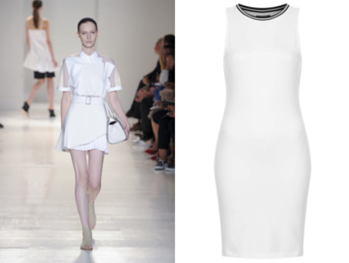 Channel Victoria Beckham SS14 in Topshop's racer-back dress