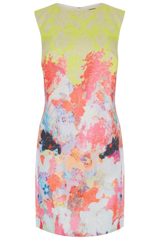 Warehouse Fluro Print Jacquard Dress, £85