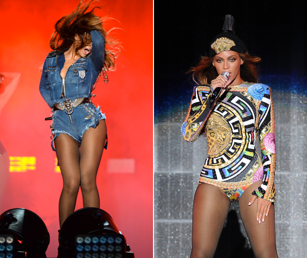 Beyonce showcases a whole new spectacular wardrobe on her new On The Run tour