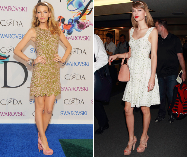 Blake and Taylor work the humble hairband. Is a revival imminent?