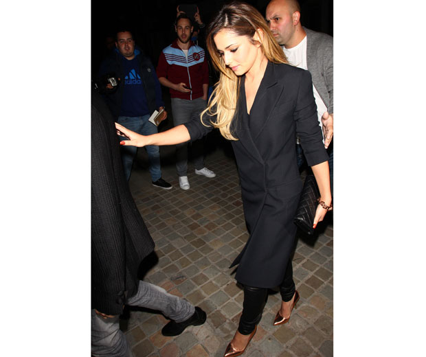 Cheryl Cole puts double-breasted tuxedo coats on the fashion map after rocking one this weekend