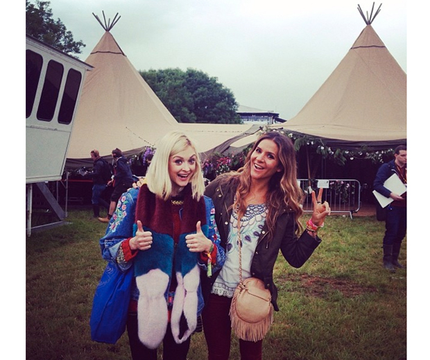 We've fallen hard for Fearne's foxy vintage Levi's festival jacket
