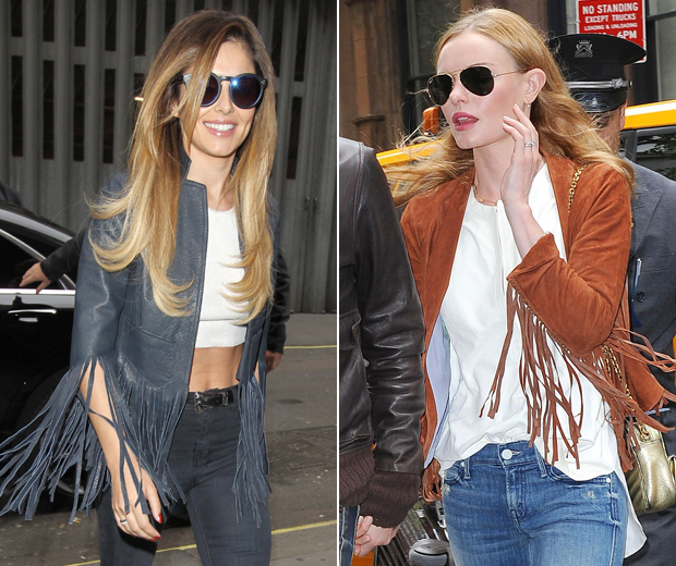 Cheryl and Kate are both fans of the fringe with their leather and suede lovelies
