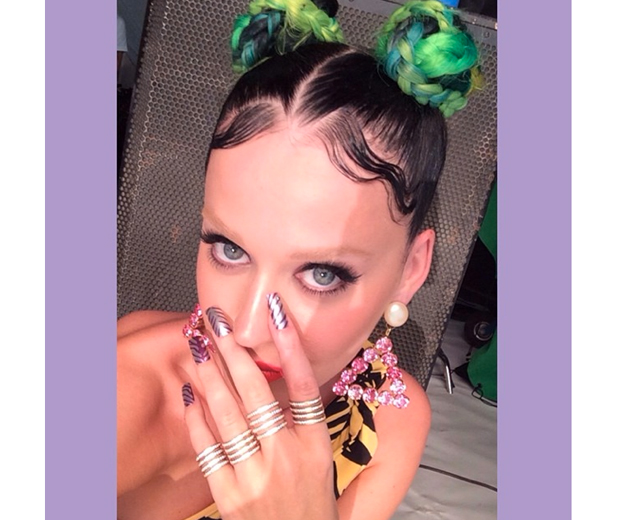 Katy debuted her new bleached brows on Instagram