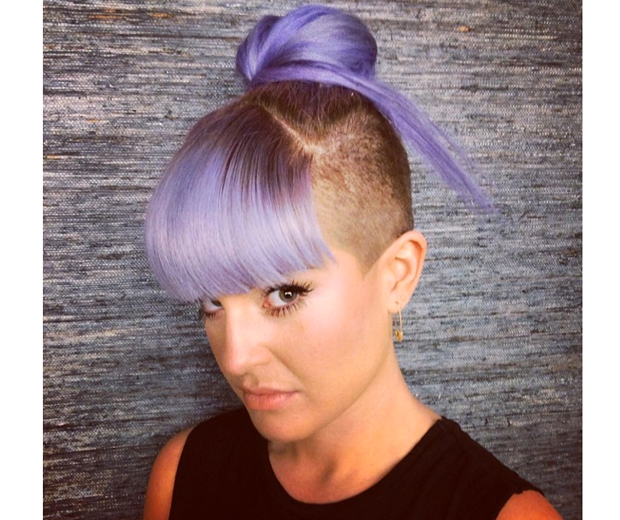 Kelly has given us serious hair envy with her edgy undercut and bun combo