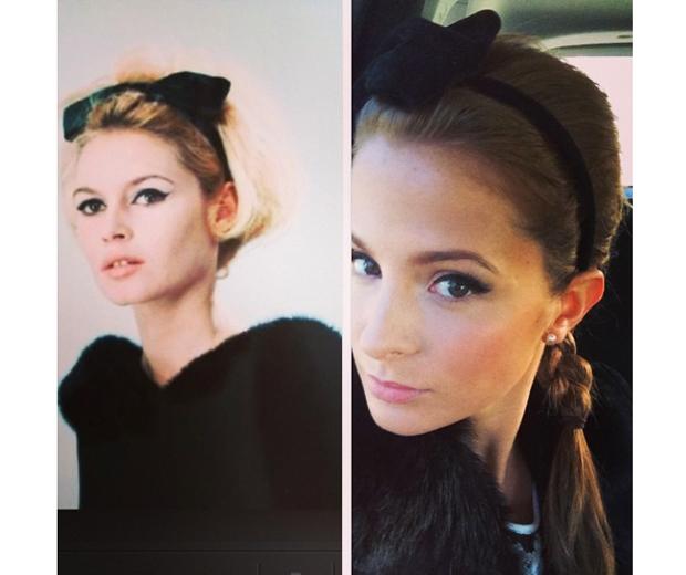 Millie channeled Bridget Bardot for her debut Masterchef appearance