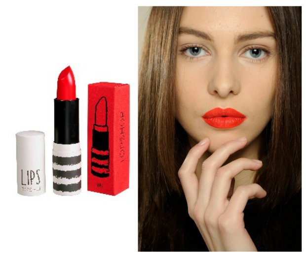 Topshop is teaming up with the red lippy project