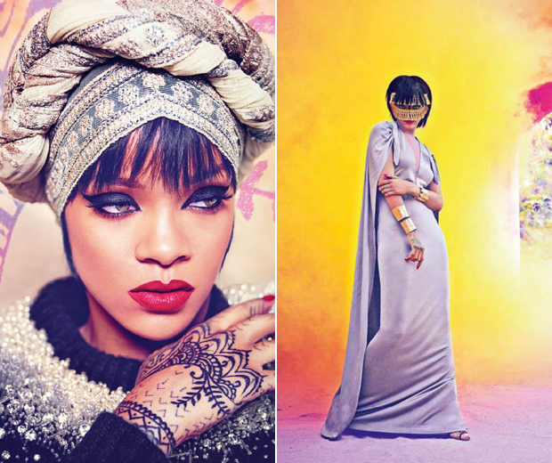 RiRi looks gorgeous as the Harpers Bazaar Arabia's latest cover star