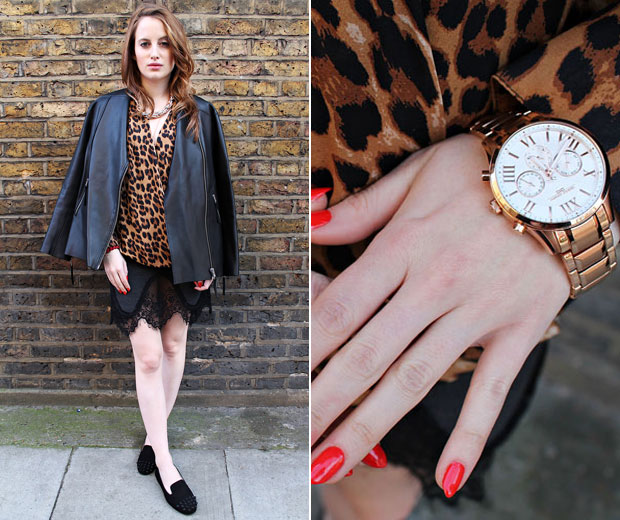We're in love with Rosie Fortescue's gorgeous watch from US label Jorg Gray