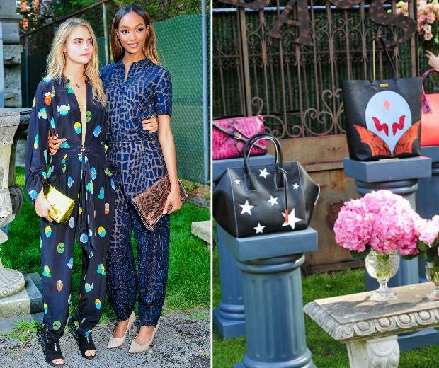Cara Delevingne and Jourdan Dunn rock jumpsuits at the Stella McCartney resort 2015 garden party