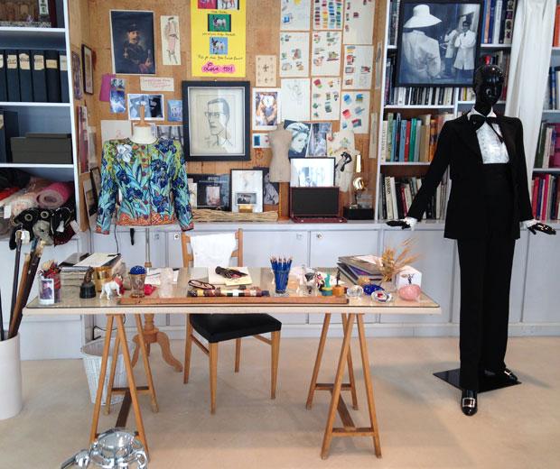 Take a look at Yves Saint Laurent's studio in the Fondation Pierre Berge – Yves Saint Laurent in Paris