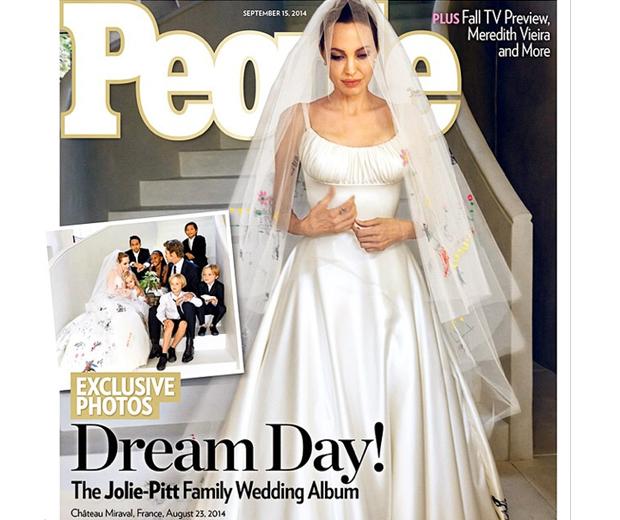 Angelina Jolie\'s Wedding Dress Is Finally Revealed | Look