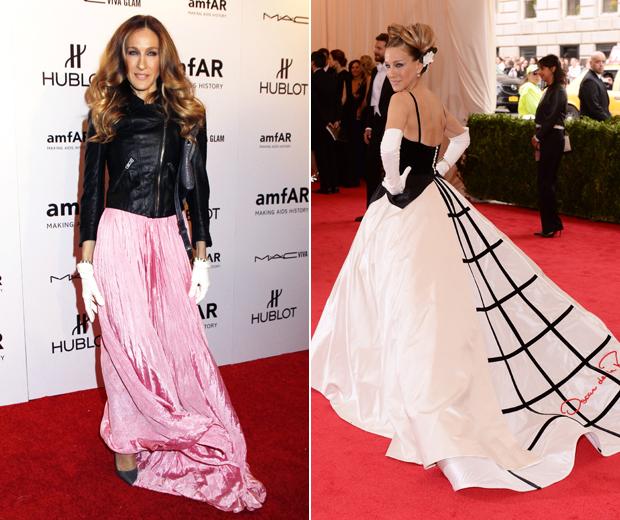 Oscar de la Renta was a red carpet favourite of Sarah Jessica Parker's