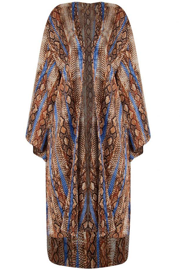 PrettyLittleThing Snake Kimono, £20