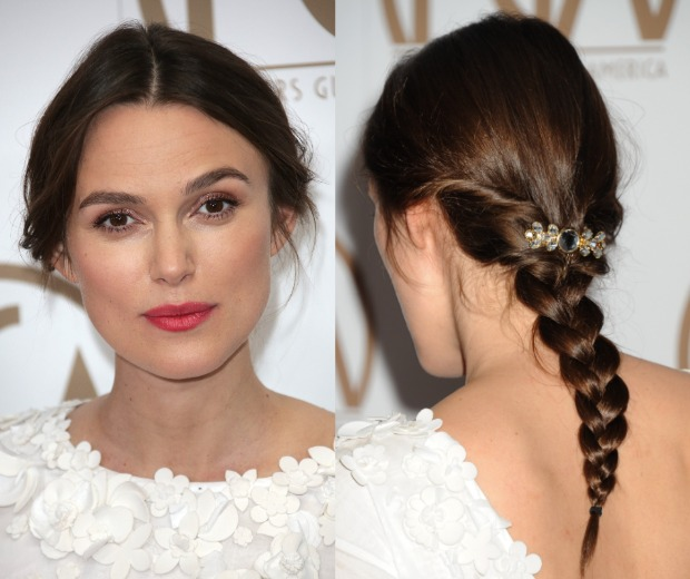 Keira Knightley pulls off the perfect plait