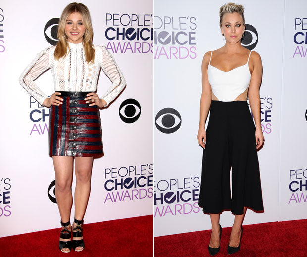 Chloe Grace Moretz and Kaley Cuoco at the People's Choice Awards.