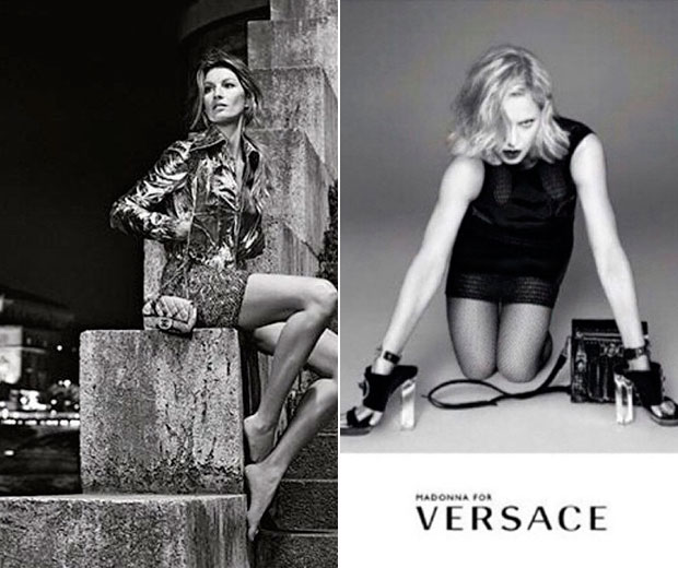 Chanel and Versace's new campaigns.