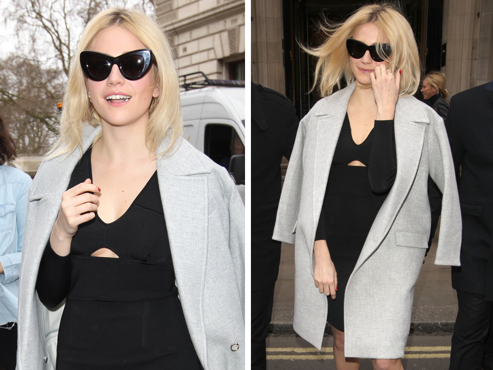 Pixie Lott Does Something Sneaky With Her LFW Hair