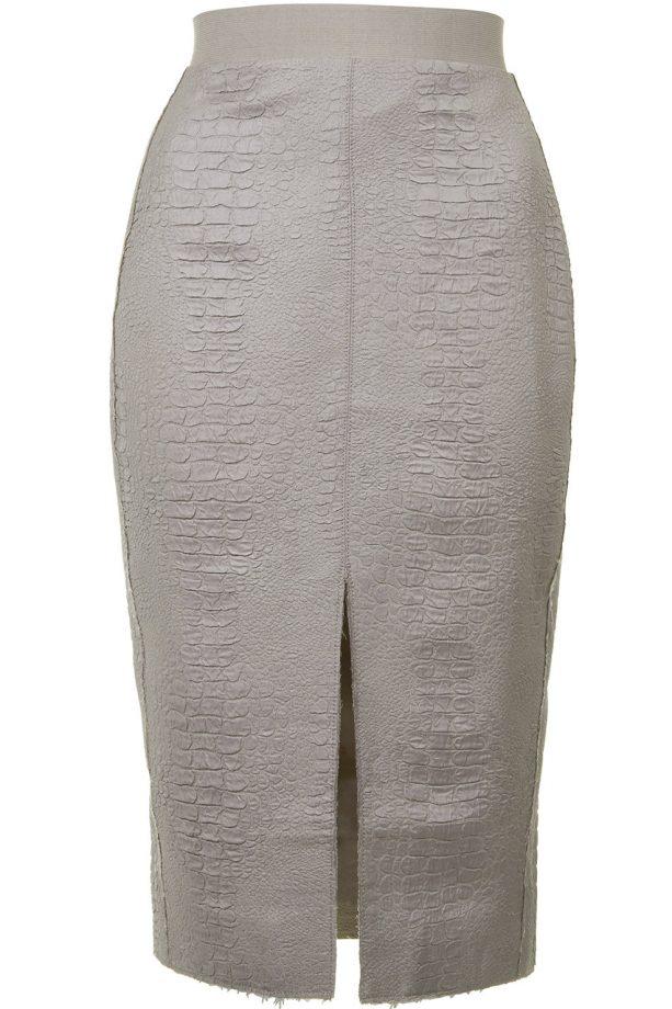 Topshop Snake Textured Pencil Skirt, £60