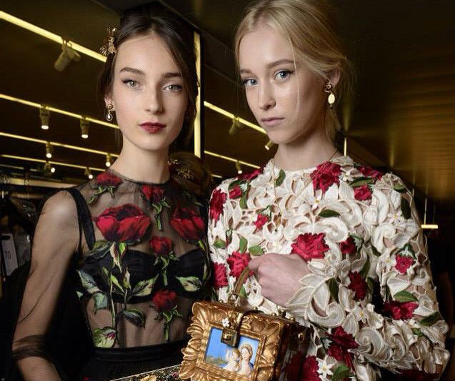 The gorgeous models backstage at the D&G show