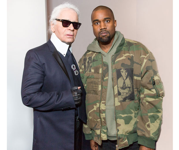 Kanye West and Karl Lagerfeld competing for the fashion week top spot.