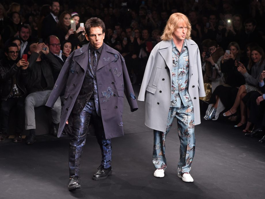 Ben Stiller and Owen Wilson stormed the Valentino SS15 catwalk working their best Zoolander poses