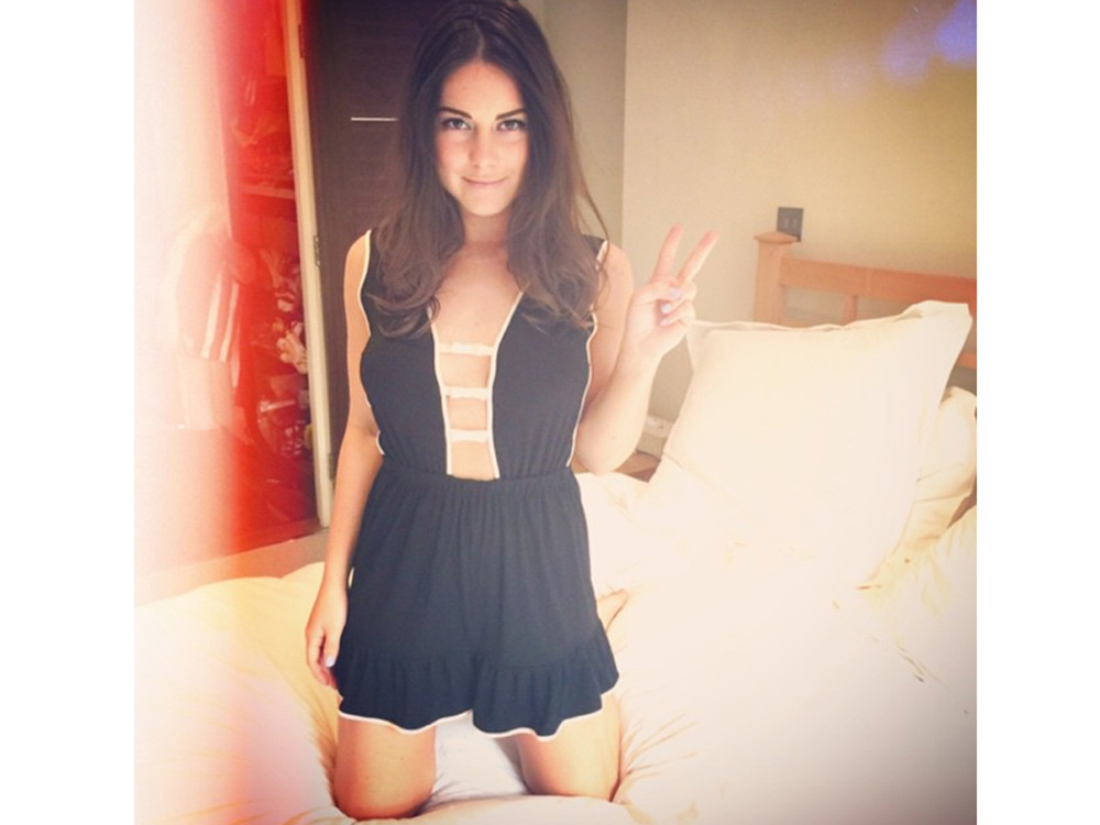 Louise Thompson Finds New Sexy Nightwear Haunt Look