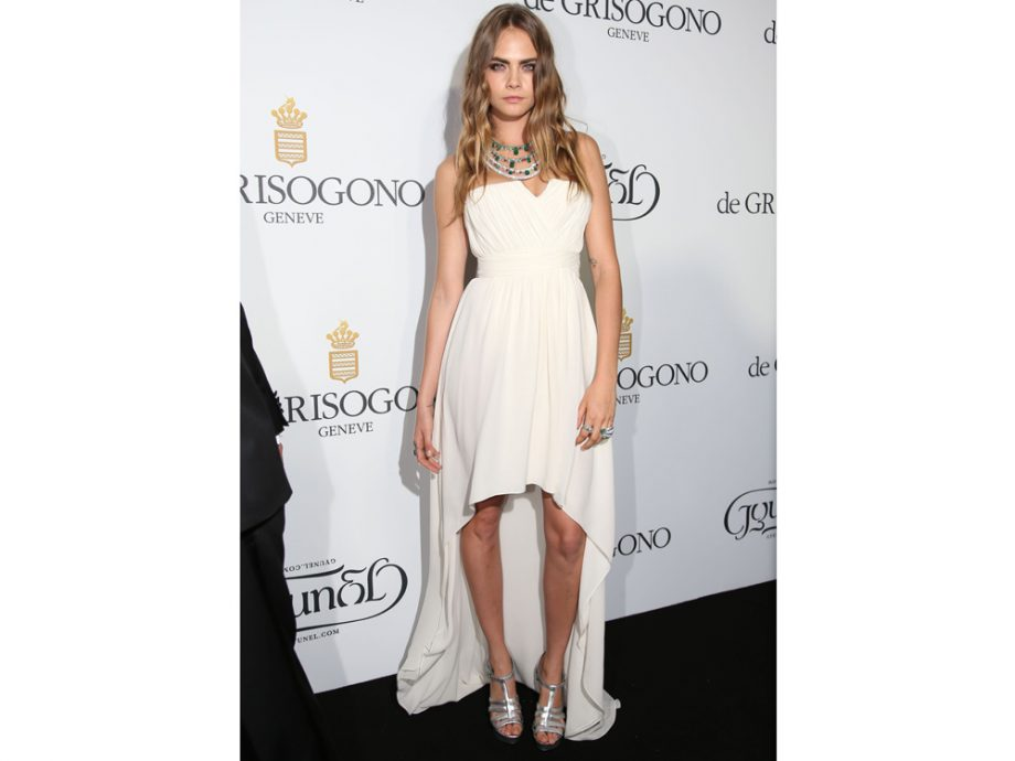 Cara Delevingne wows in a Gyunel gown
