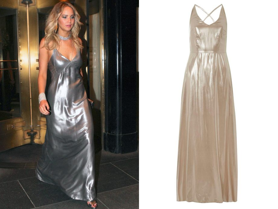 Dorothy Perkins' metallic maxi is the perfect tribute to J-Law's Galvan gown