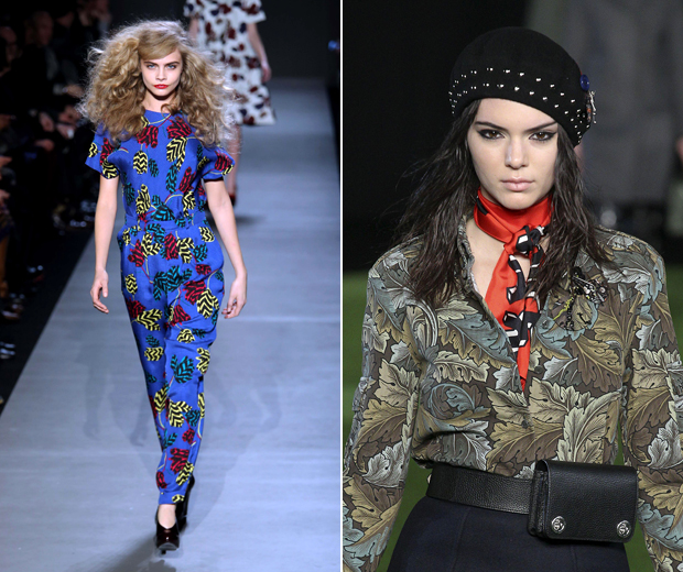 Cara Delevingne and Kendall Jenner both walked for Marc by Marc Jacobs.
