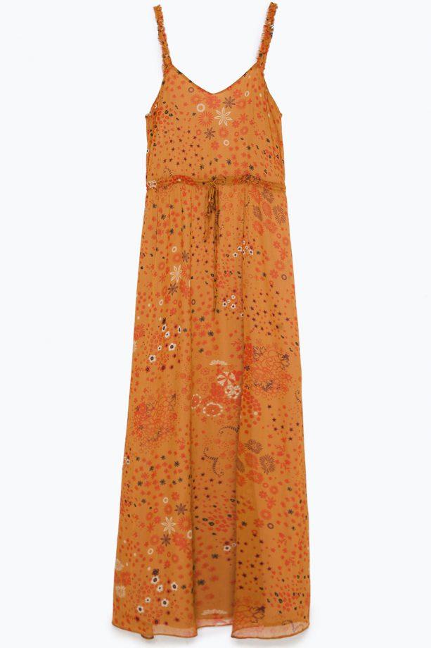 Zara Strappy Dress With Frill, £39.99