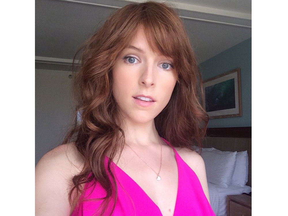 Anna Kendrick Works New Red Hair And Choppy Fringe Look