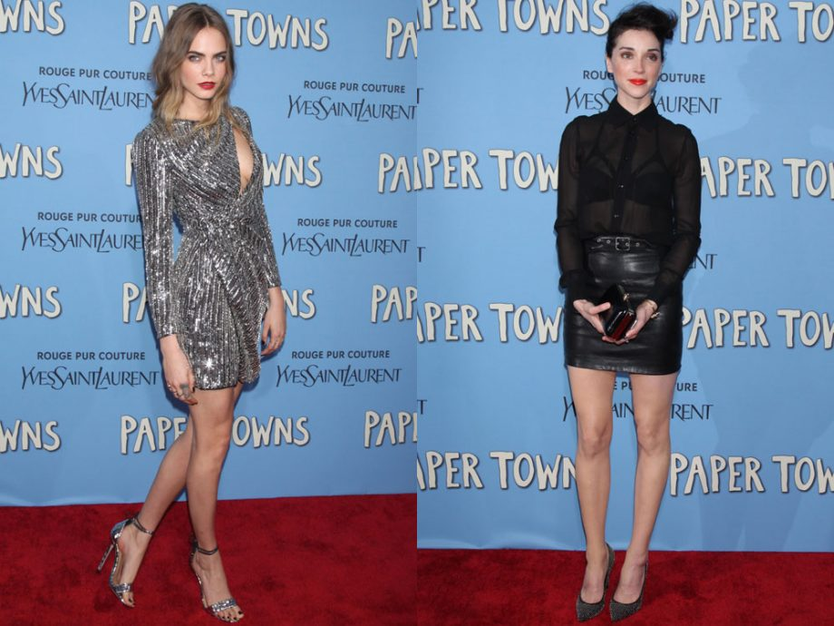 Cara Delevingne and St Vincent both looked incredible at the Paper Towns premiere