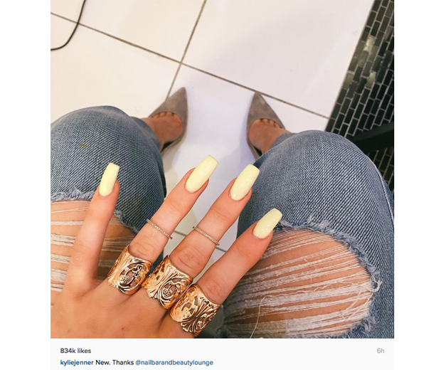 Where To Get Kylie Jenner's Yellow Nail Polish | Look