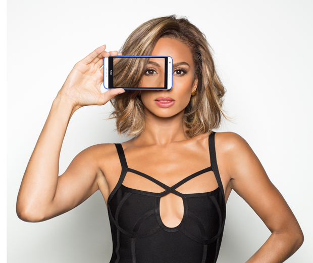 Alesha Dixon, face of HTC x Smashbox Selfie Kit