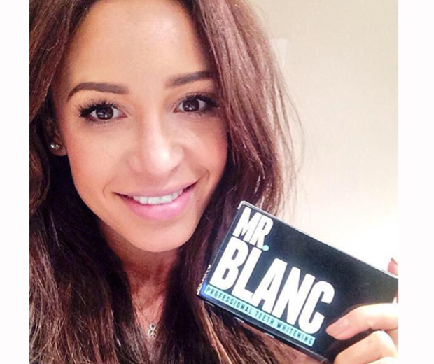 Danielle Peazer is also a big fan of the teeth-whitening product