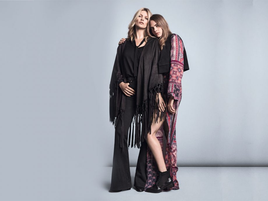 Cara Delevingne and Kate Moss looking sensational for Mango.
