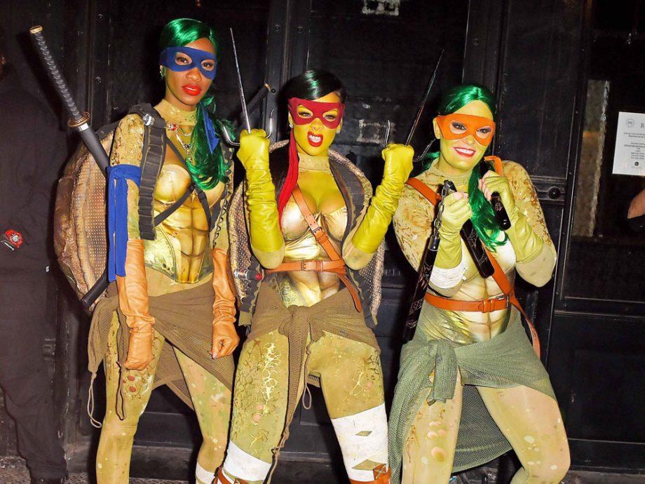 Halloween costume ideas to make your mates scream look rihanna rocked the teenage mutant ninja turtle look last halloween coming up with whopper halloween costume ideas solutioingenieria Gallery