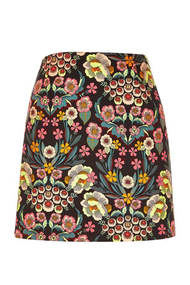 River Island Retro Floral Print Mini Skirt, £30