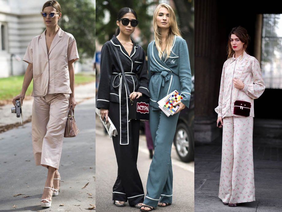 From silk shirts to PJ jackets and satin cropped styles, the coolest girls on the street are rocking their bedroom basics by day