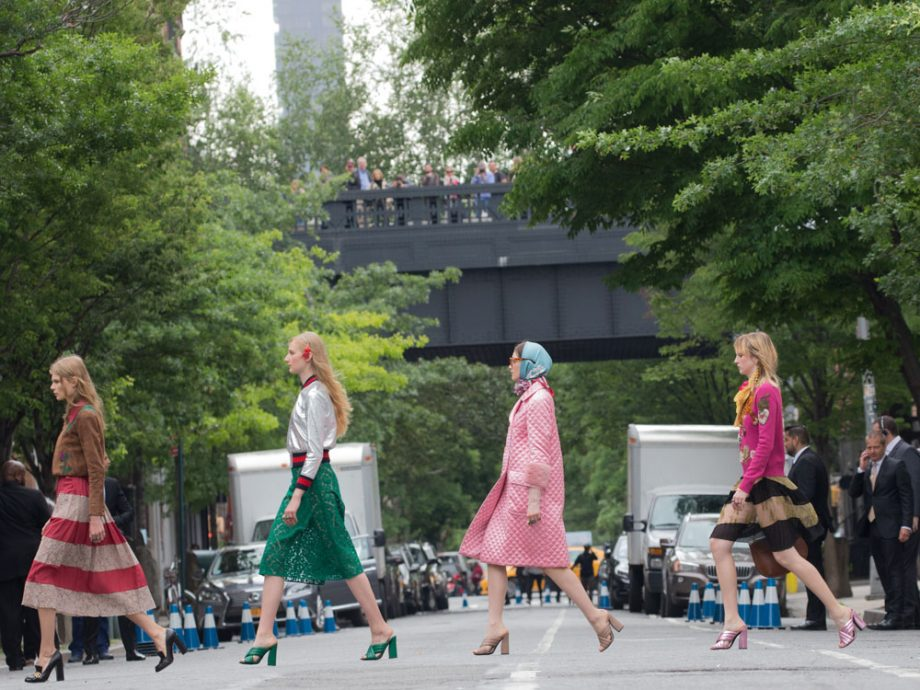Gucci's Resort 2016 collection was shown in New York last year