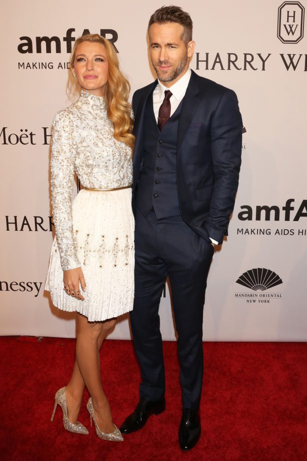 Blake Lively And Ryan Reynolds Can't Take Their Hands Off Each Other At The amfAR Gala, 2016